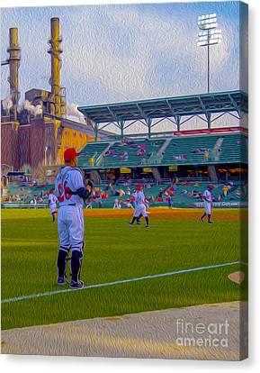 Victory Field Catcher 1 Canvas Print by David Haskett