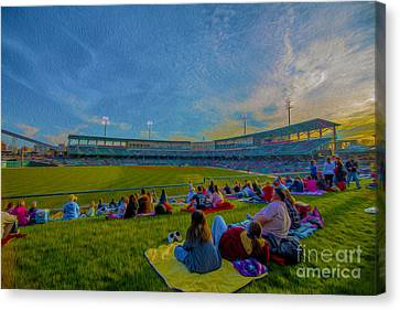 Victory Field Oil Canvas Print by David Haskett