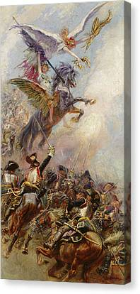 Victory Canvas Print by Jean-Baptiste Edouard Detaille