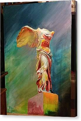 Victory Samothraki Canvas Print by Charalampos Gkolfinopulos
