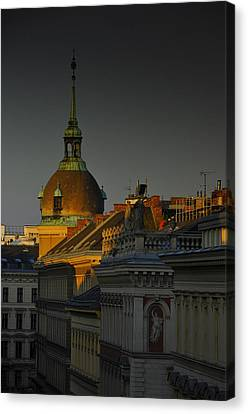 Vienna Sunrise Canvas Print by Aaron S Bedell
