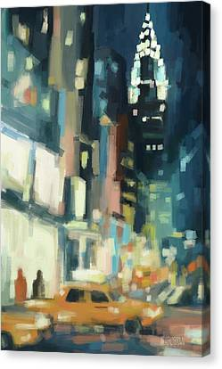 View Across 42nd Street New York City Canvas Print by Beverly Brown Prints