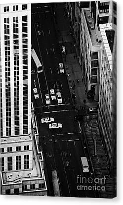 View Down Towards Fifth 5th Avenue Ave New York City Canvas Print by Joe Fox