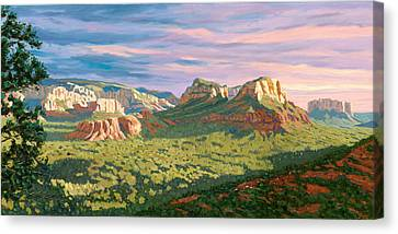 View From Airport Mesa - Sedona Canvas Print by Steve Simon