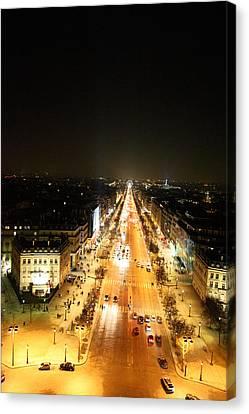 View From Arc De Triomphe - Paris France - 01136 Canvas Print by DC Photographer