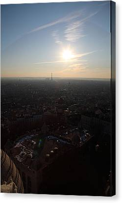 View From Basilica Of The Sacred Heart Of Paris - Sacre Coeur - Paris France - 011311 Canvas Print by DC Photographer