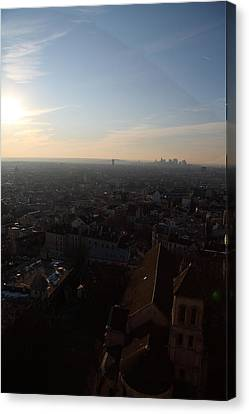 View From Basilica Of The Sacred Heart Of Paris - Sacre Coeur - Paris France - 011315 Canvas Print by DC Photographer