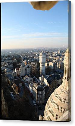 View From Basilica Of The Sacred Heart Of Paris - Sacre Coeur - Paris France - 011322 Canvas Print by DC Photographer