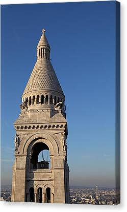 View From Basilica Of The Sacred Heart Of Paris - Sacre Coeur - Paris France - 011324 Canvas Print by DC Photographer