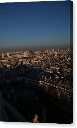View From Basilica Of The Sacred Heart Of Paris - Sacre Coeur - Paris France - 011325 Canvas Print by DC Photographer