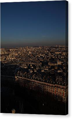 View From Basilica Of The Sacred Heart Of Paris - Sacre Coeur - Paris France - 011327 Canvas Print by DC Photographer
