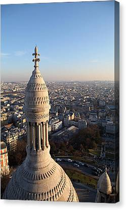 View From Basilica Of The Sacred Heart Of Paris - Sacre Coeur - Paris France - 011334 Canvas Print by DC Photographer