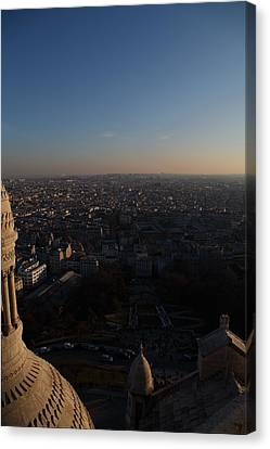 View From Basilica Of The Sacred Heart Of Paris - Sacre Coeur - Paris France - 011335 Canvas Print by DC Photographer