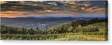 View From Carters Mountain Canvas Print by Tim Wilson