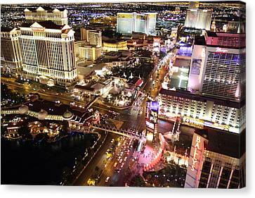 View From Eiffel Tower In Las Vegas - 01131 Canvas Print by DC Photographer