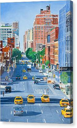 View From Highline New York City Canvas Print by Anthony Butera