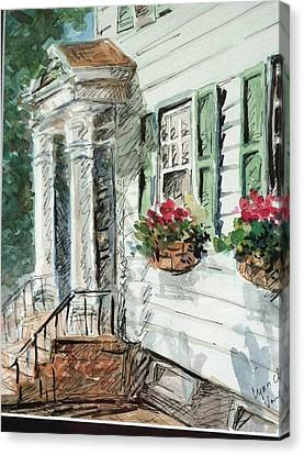 View From Main Street Canvas Print by Lynn Cheng-Varga