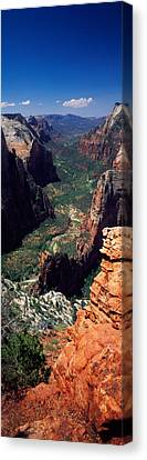 View From Observation Point, Zion Canvas Print by Panoramic Images