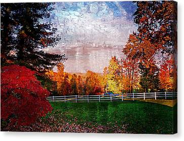 View From Sugarland Heights Canvas Print by Julie Dant