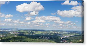 View From Television Tower Canvas Print by Panoramic Images