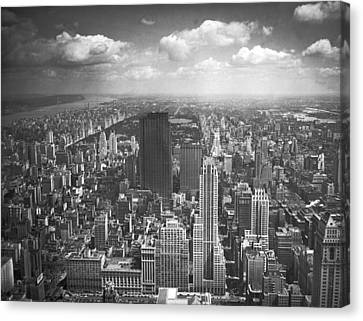 View From The Empire State Canvas Print by Underwood Archives