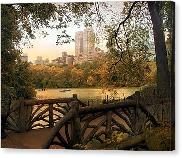 View From The Ramble Canvas Print by Jessica Jenney