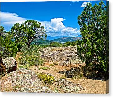 View From Warner Point Trail In Black Canyon Of The Gunnison National Park-colorado  Canvas Print by Ruth Hager