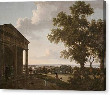 View In Mount Merrion Park, 1804 Canvas Print by William Ashford