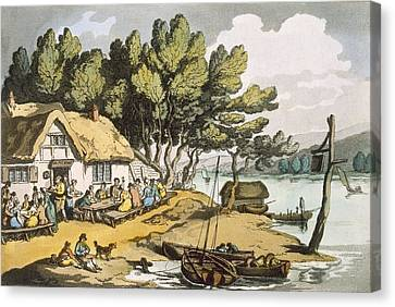 View Near Newport, Isle Of Wight Canvas Print by Thomas Rowlandson