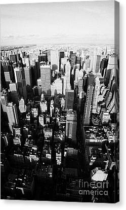 View North And Down Towards Central Park From Empire State Building New York Canvas Print by Joe Fox
