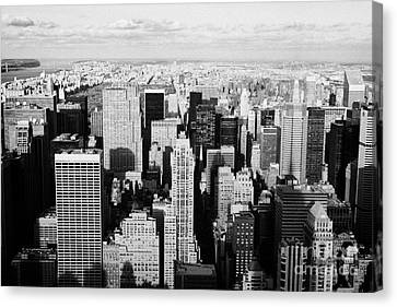 View North Towards Central Park From Empire State Building New York Canvas Print by Joe Fox