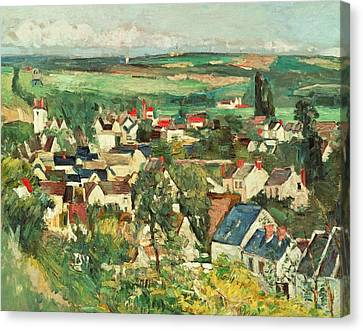 View Of Auvers From Above Canvas Print by Paul Cezanne