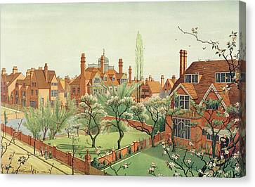 View Of Bedford Park Canvas Print by English School