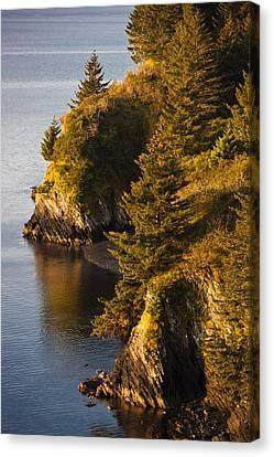 View Of Chiniak Bay, Kodiak Island Canvas Print by Kevin Smith