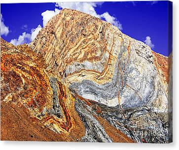 View Of Cliffs From Convict Lake Canvas Print by Bob and Nadine Johnston