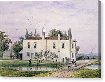 View Of Copenhagen House, 1853 Wc On Paper Canvas Print by Thomas Hosmer Shepherd