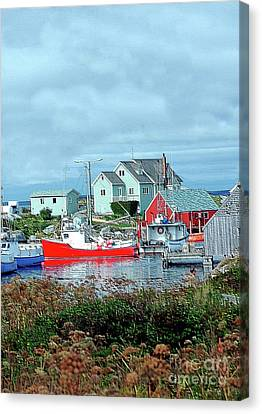 View Of Cove Canvas Print by Kathleen Struckle