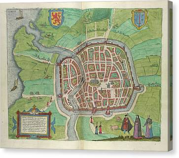 View Of Haarlem Canvas Print by British Library
