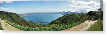 View Of Laguna De Apoyo Canvas Print by Panoramic Images