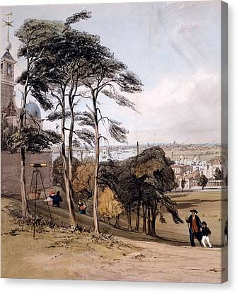 View Of London From Greenwich Park, 1842 Canvas Print by Thomas Shotter Boys