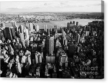 View Of Manhattan East River Looking Towards Queens New York City Usa Canvas Print by Joe Fox