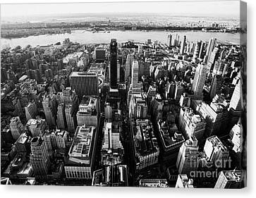 View Of Manhattan West Towards Hudson River And One Penn Plaza New York City Canvas Print by Joe Fox