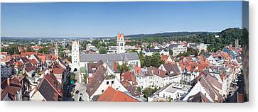 View Of Old Town With Liebfrauenkirche Canvas Print by Panoramic Images