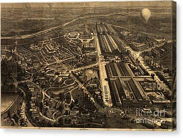 View Of Philadelphia S Centennial Exposition 1876 Canvas Print by Celestial Images
