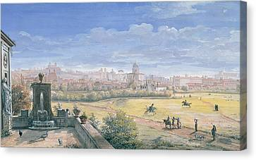 View Of Rome Canvas Print by Gaspar van Wittel