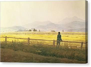 View Of Schmiedebergerkamm Canvas Print by Caspar David Friedrich
