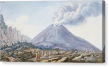 View Of The Atrio Di Cavallo Canvas Print by Pietro Fabris