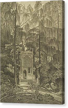 View Of The Chapel In The Garden Canvas Print by William Pars
