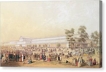 View Of The Crystal Palace Canvas Print by George Baxter