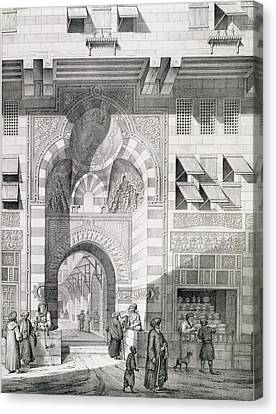 View Of The Door Of Okal Kaid-bey Canvas Print by Pascal Xavier Coste